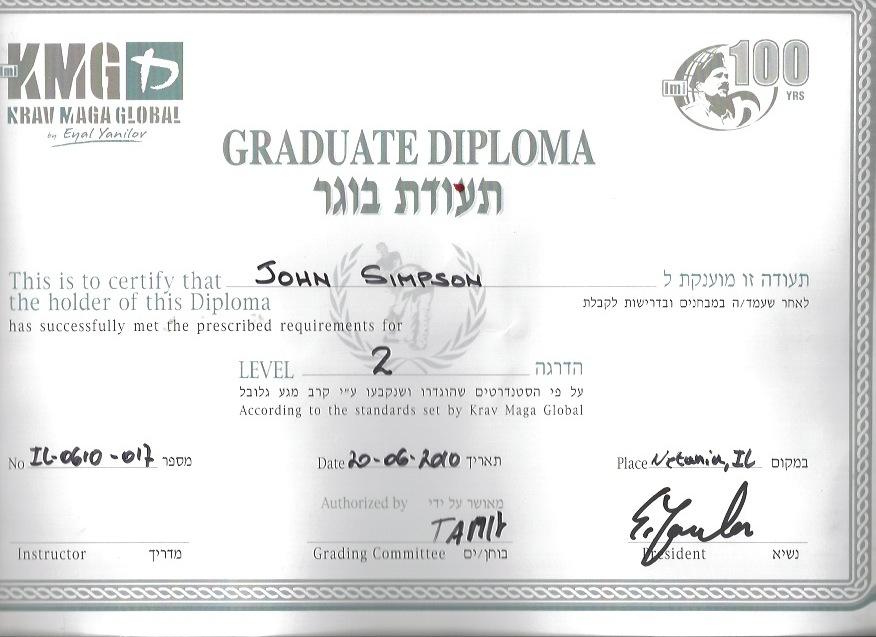 Certifications Complete Krav Maga